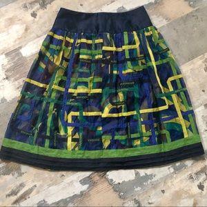 Peter Nygard 100% silk patchwork skirt size 4